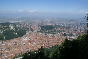 Brasov from the top of the cable car