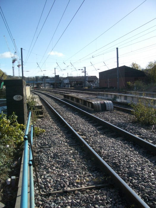 Looking towards the station.